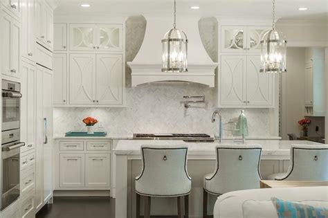 kitchen backsplash photos white cabinets white herringbone backsplash with white kitchen