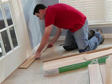 how is laminate flooring installed installing laminate flooring how tos diy