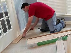 Installing laminate flooring how tos diy for How to install glueless laminate flooring