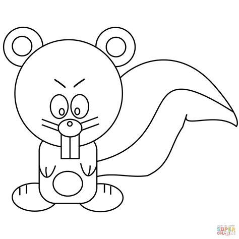 Kleurplaat Eekhoorn by Squirrel Coloring Page Free Printable Coloring Pages