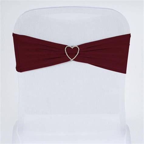 5 pcs wholesale burgundy spandex stretch chair sash