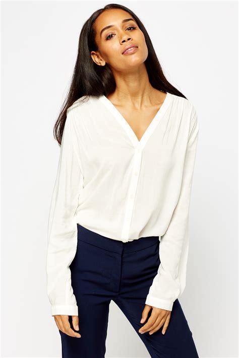 v neck blouses v neck sheer blouse just 5