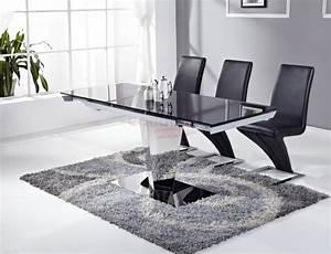 Table et chaise salle a manger pas cher table 0 manger for Deco cuisine avec chaise de salle a manger noir et blanc
