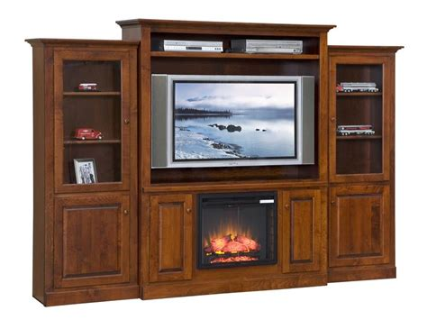 solid wood entertainment center with fireplace mayfair electric fireplace entertainment center from