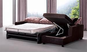Brown, Fabric, Modern, Sectional, Sofa, W, Sleeper, U0026, Storage, Chaise