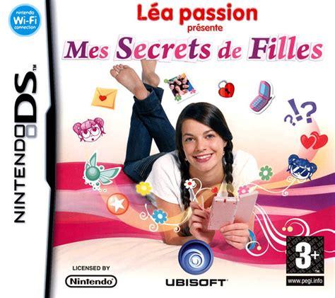 jeux jeux de cuisine léa présente mes secrets de filles sur nintendo ds
