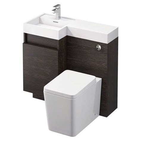 summers 900 wc and vanity combination unit oak left