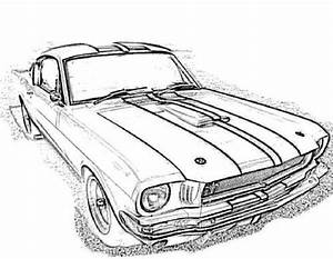 racing car mustang gt350 coloring page auto design art With 1966 ford shelby co