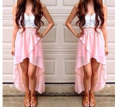 skirt pink high  dresses summer summer skirt cute