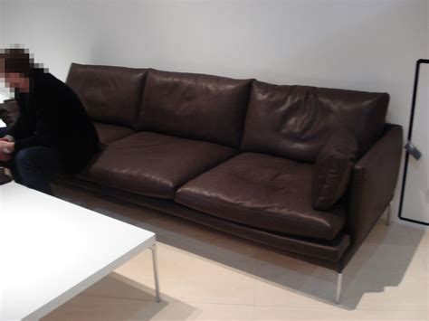 canape zanotta canapé droit william cuir 3 places l 266 cm marron