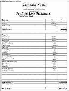 Profit and Loss Statement Template - Word Excel PDF