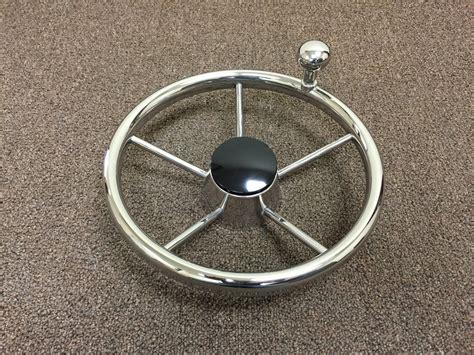 Boat Steering Wheel Turning Knob by Marine Boat Five Spoke 11 Quot Stainless Steel Steering Wheel