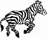 Zebra Coloring Animals Printable Wildlife Via sketch template