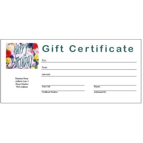 printable gift certificate templates  ms publisher