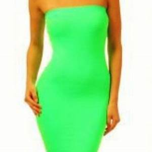 Green Cocktail Dress Summer Nights Neon from UsTrendy