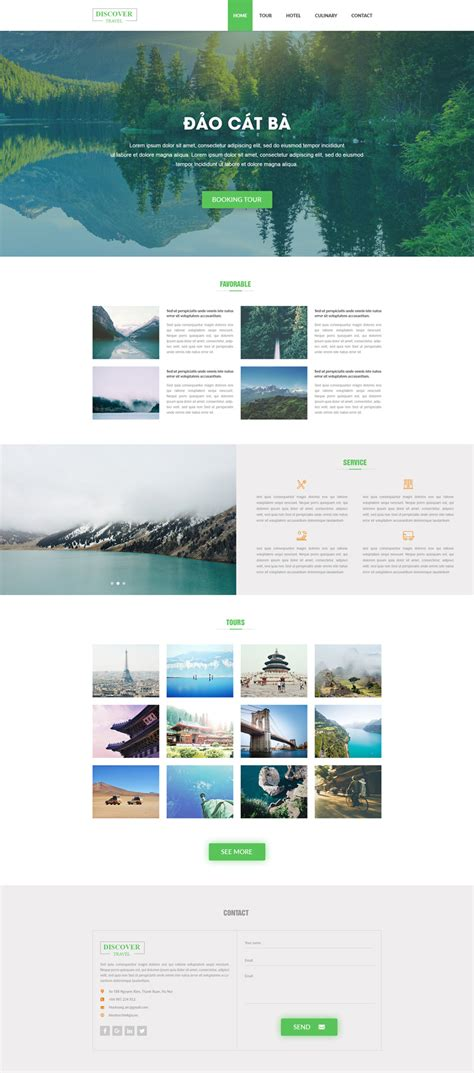 Tourism Landing Page Templates by Travel Landing Page Template Uxfree
