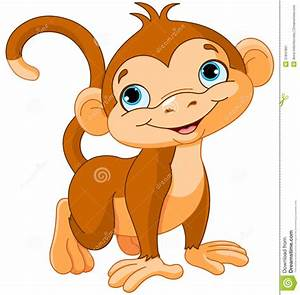Baby monkey stock vector. Illustration of face, monkey ...