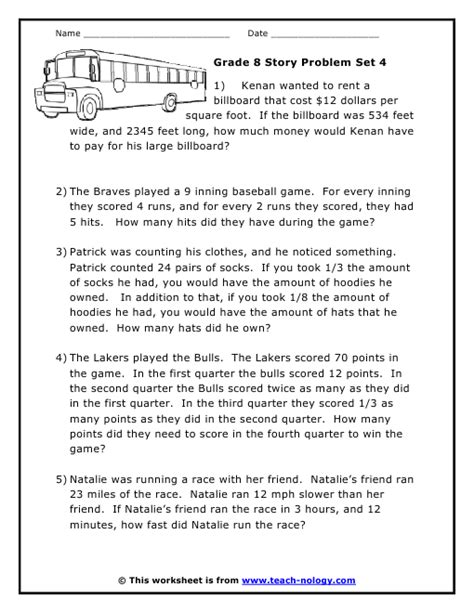 problem solving worksheets grade 4 boxfirepress