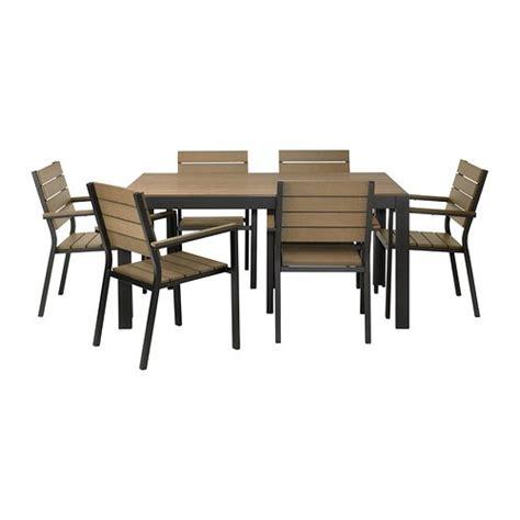 Ikea Falster Tisch by Falster Tisch 6 Armlehnst 252 Hle Au 223 En Schwarz Braun Ikea