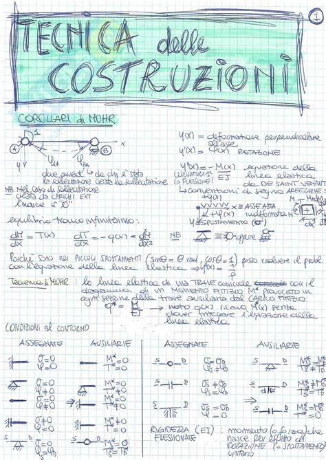 dispense di tecnica delle costruzioni teoria esame appunti di tecnica delle costruzioni