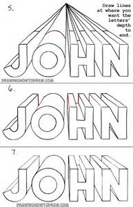 One Point Perspective Drawing Letters