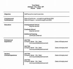 sample nursing resume 8 download free documents in pdf With registered nurse resume template word