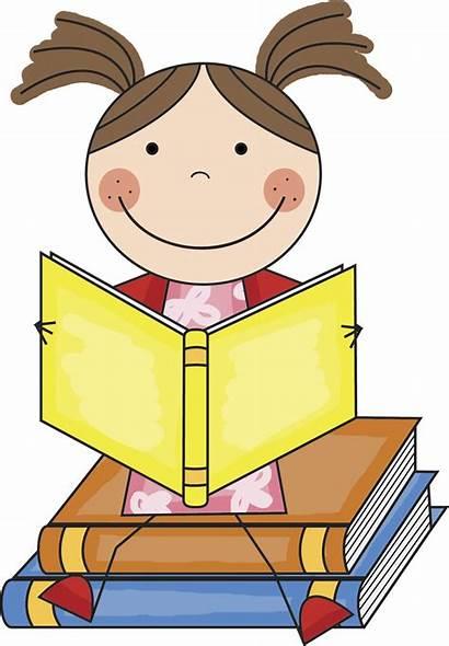 Clipart Reading Books Children Library Clip Kid
