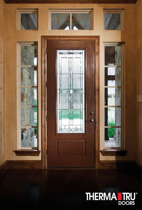 Glass Entry Doors For Home by Therma Tru Fiber Classic Oak Collection Fiberglass Door