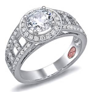 halo style engagement ring modern platinum bridal rings demarco bridal jewelry official