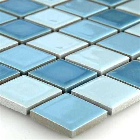 Keramik Mosaik Fliesen Mosaikfliese Blau Mix 25x25x5mm Ebay