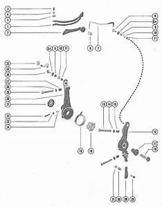 Mercury Marine 70 Hp  3 Cylinder  Throttle Control Linkage