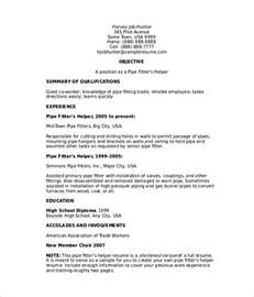 Journeyman Pipefitter Resume by Pipefitter Resume Templates Free Premium Templates