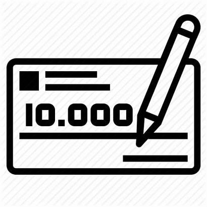 Paycheck Cheque Icon Money Order Transparent Clip