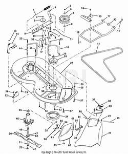 Poulan Pp11536a Tractor Parts Diagram For Mower Deck