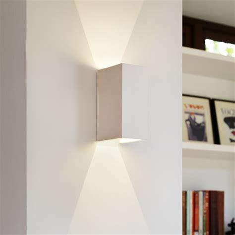 walla102 white plaster up stylish wall light led version