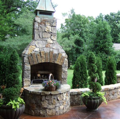 """36"""" Standard Fireplace Kit In Natural Stone Traditional"""