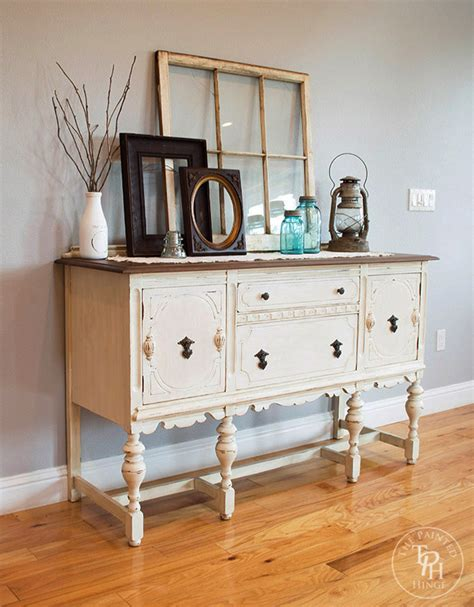 Painted Antique Sideboard by Sideboard Buffet Hutch Chalk Paint Makeover