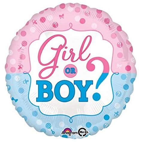 gender reveal boy  girl standard foil balloon kids