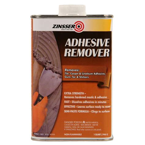 Tile Adhesive Remover Tool by Zinsser 1 Qt Adhesive Remover Of 6 42084 The