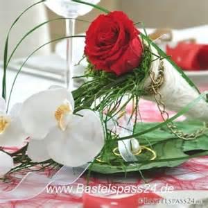 hochzeitsdekoration selber machen rot weiß bastelspass24 de floristik basteln bastelanleitungen un