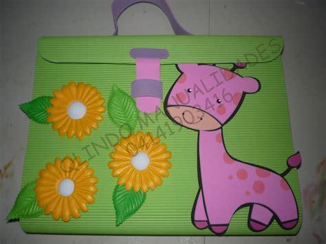 carpeta escolar tipo maletin con sus moldes