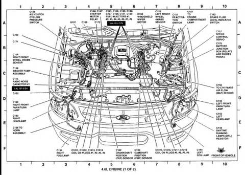 similiar 2001 ford 5 4l firing order keywords 2001 ford f 150 engine diagram on 2001 ford 5 4l engine diagram