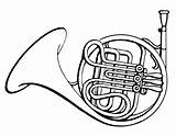 Horn French Clipart Horns Coloring Drawing Instruments Baritone Instrument Psf Pages Musical Clipartbest Cliparts Drawings Bus Loud Draw Commons Wikimedia sketch template