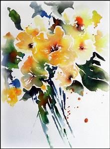 Aquarell Malen Blumen : aquarell gelbe blumen meine aquarelle pinterest ~ Articles-book.com Haus und Dekorationen