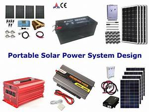 Portable solar power system design, a clean green power ...