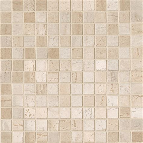 travertini polished mosaic floor and wall tile 12x12 beige