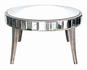 shimmering american mirrored cocktail table with silver With silver mirrored coffee table