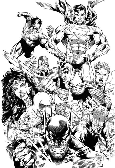Justice League comic colouring page   Justice league