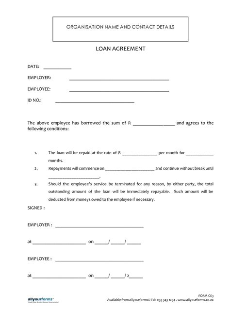 Freeample Friendly Loan Agreement Malaysia Of Format In Word India Sample For Letter