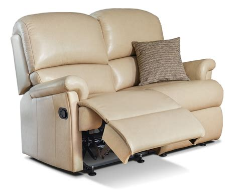 Reclining Settees by Nevada Small Leather Reclining 2 Seater Settee Sherborne